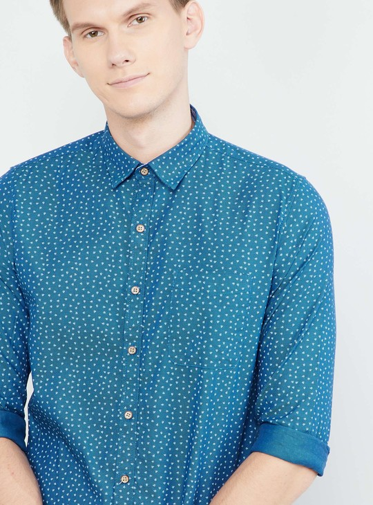 MAX Printed Full Sleeves Regular Fit Shirt