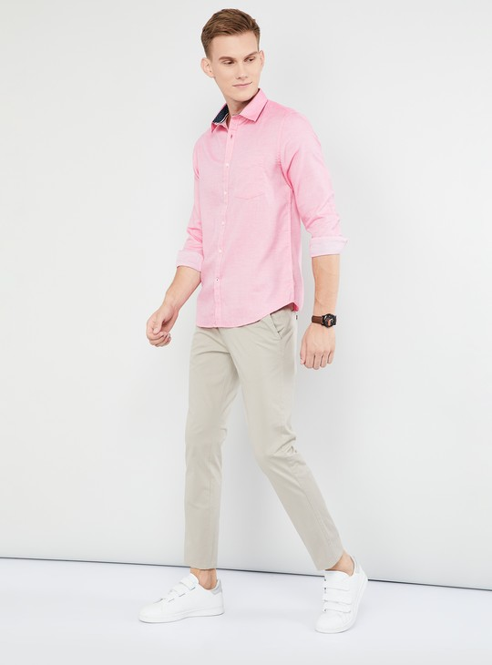 MAX Solid Cotton Regular Fit Casual Shirt