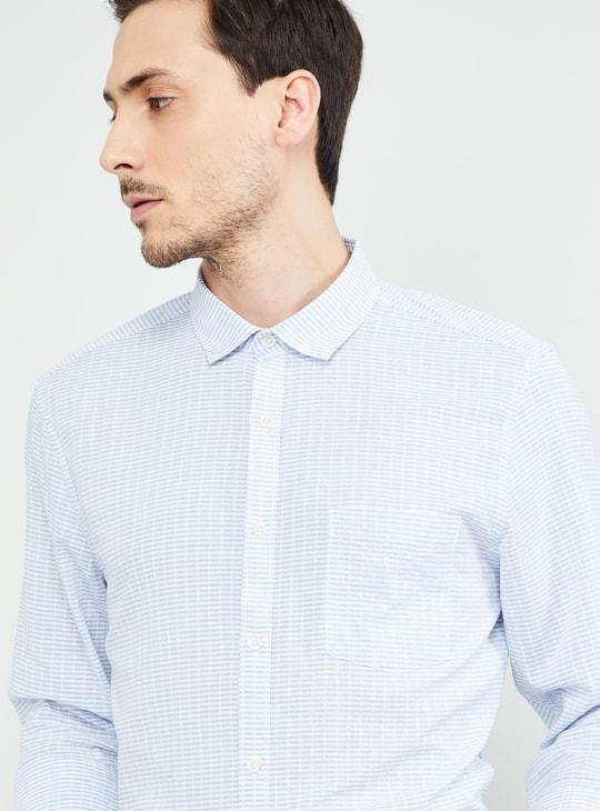 MAX Striped Full Sleeves Regular Fit Shirt