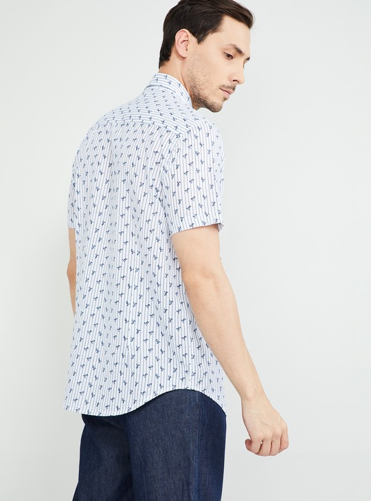 MAX Printed Short Sleeves Regular Fit Shirt