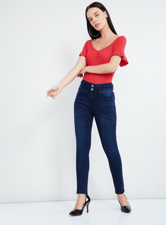 MAX Solid Knitted Bardot Top