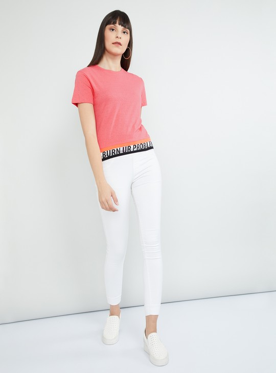 MAX Typographic Print Speckled Top