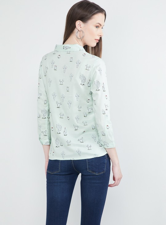 MAX Printed Rolled-Up Sleeves Shirt
