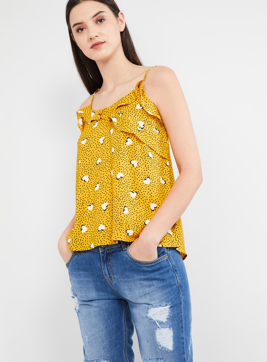 MAX Heart-Shaped Print Camisole Top