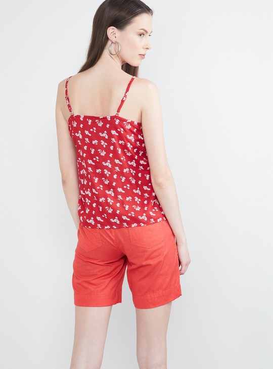 MAX Floral Print Strappy Top