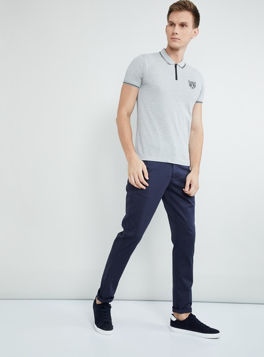 MAX Solid Short Sleeves Slim Fit Polo T-shirt