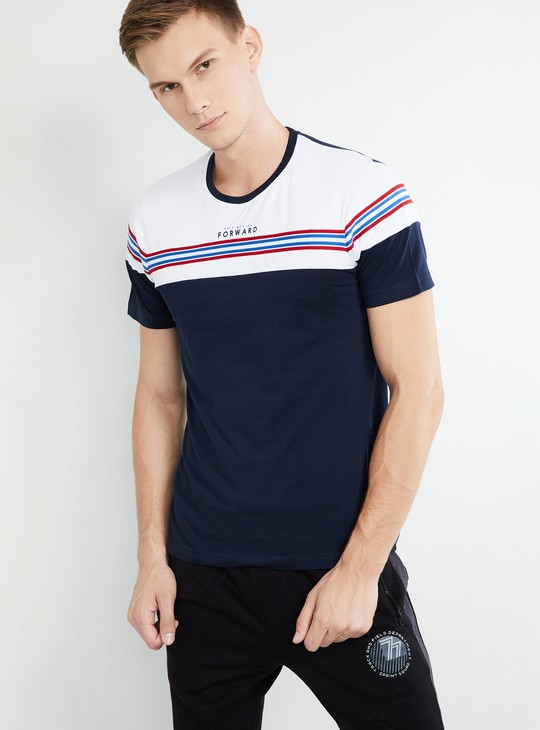 MAX Striped Crew-Neck Slim Fit T-shirt