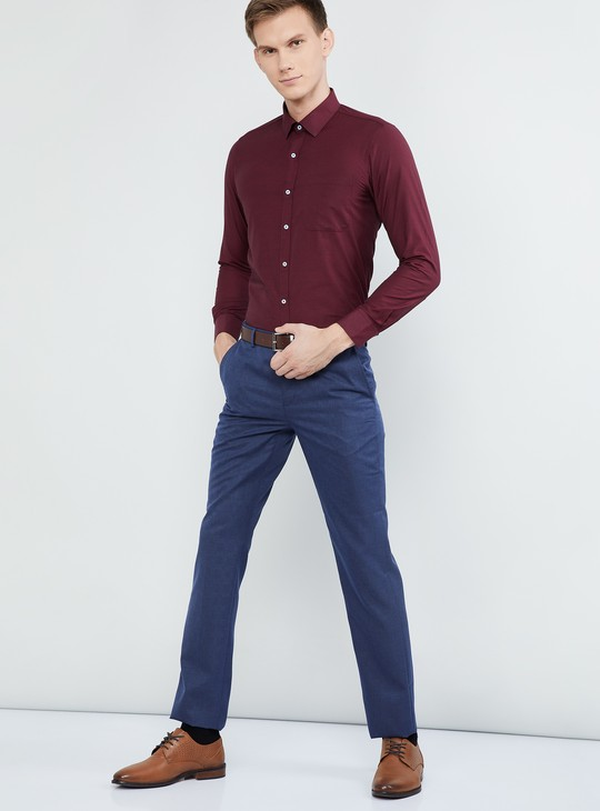 MAX Solid Full Sleeves Regular Fit Formal Shirt