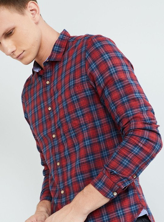 MAX Checked Slim Fit Casual Shirt