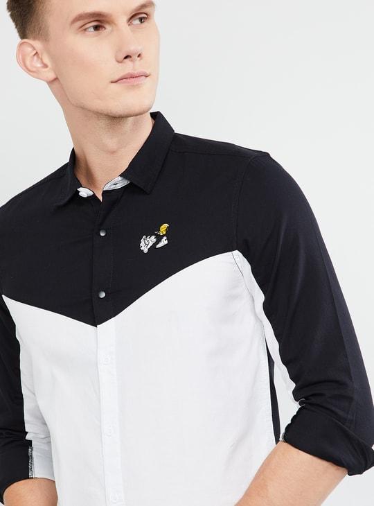 MAX Colourblocked Full Sleeves Slim Fit Shirt