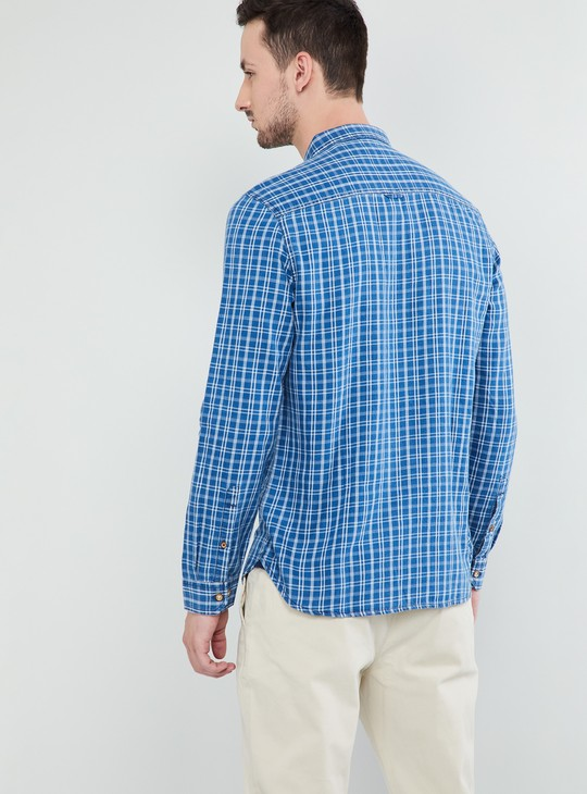 MAX Checked Slim Fit Full Sleeves Shirt
