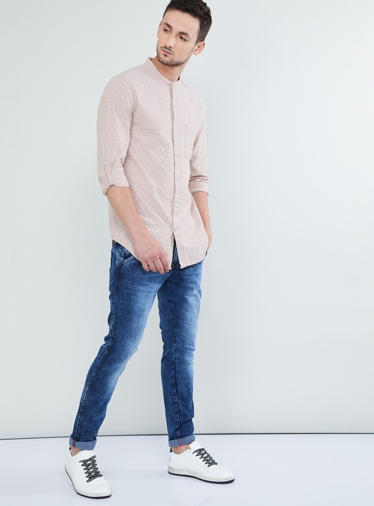 MAX Embroidered Rolled-Up Sleeves Shirt