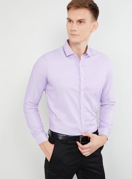 MAX Textured Full Sleeves Regular Fit Shirt