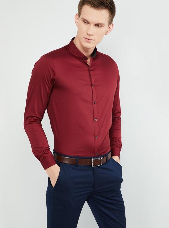 MAX Slim Collar Solid Slim Fit Formal Shirt