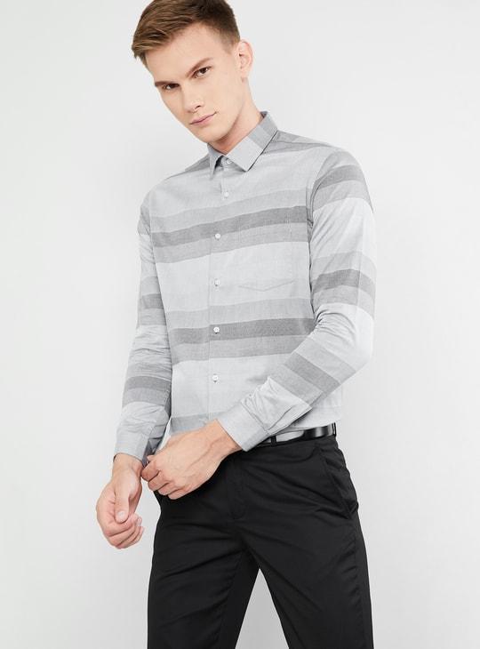 MAX Striped Full Sleeves Slim Fit Shirt