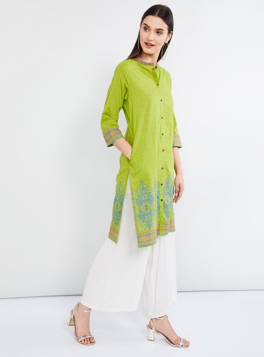 MAX Ethnic Print Three-quarter Sleeves Kurta