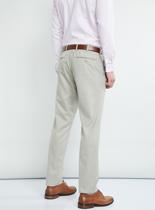 MAX Solid Flat-Front Slim Fit Trousers