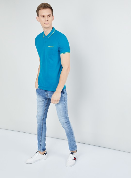 MAX Slim Fit Polo T-shirt with Contrast Tipping