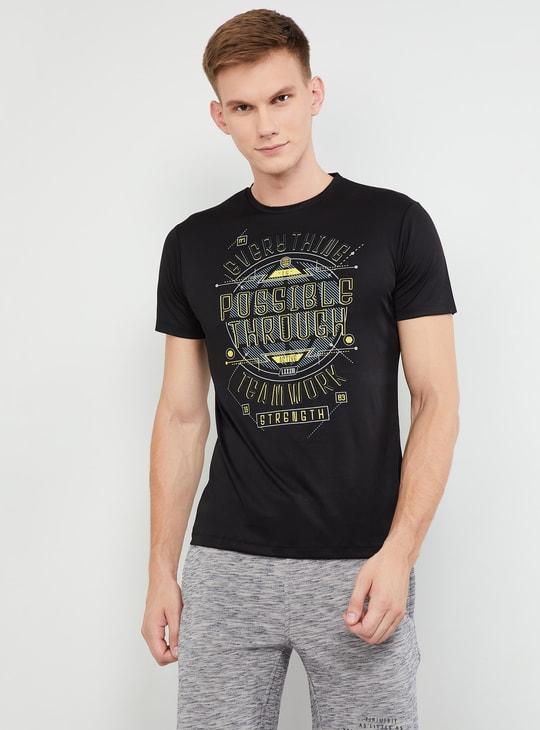 MAX Printed Crew-Neck Slim Fit T-shirt