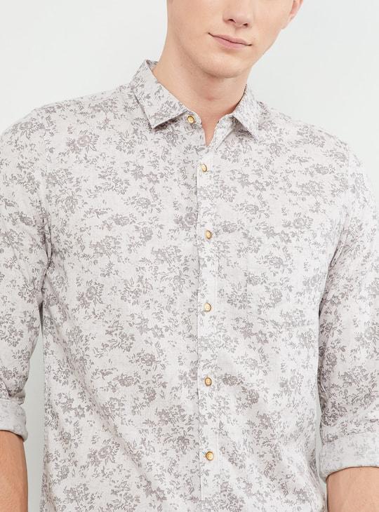 MAX Floral Print Full Sleeves Slim Fit Shirt