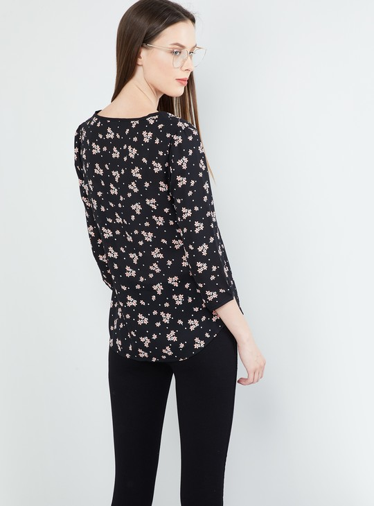 MAX Floral Print Woven Top