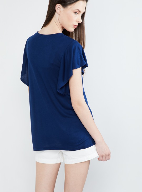MAX Dolman Sleeves Embroidered Top