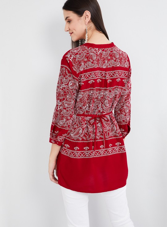 MAX Paisley Print Three-quarter Sleeves Tunic