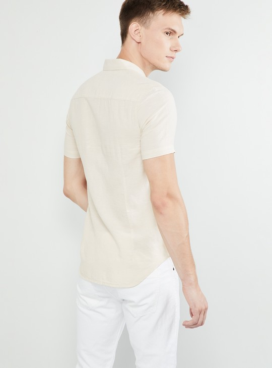 MAX Solid Short Sleeves Regular Fit Shirt