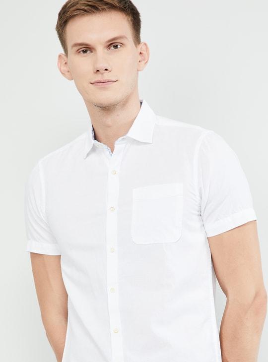 MAX Solid Short Sleeves Regular Fit Shirt