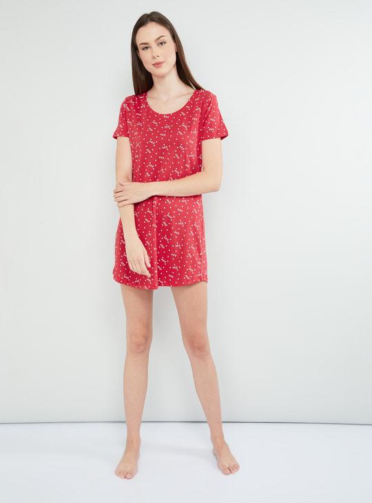 MAX Printed Cap Sleeves Sleepwear Set - 2 Pcs.