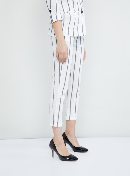 MAX Striped Cropped Pants