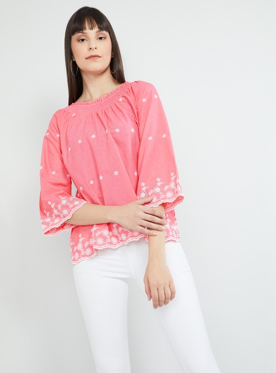 MAX Floral Lace Embroidery Top