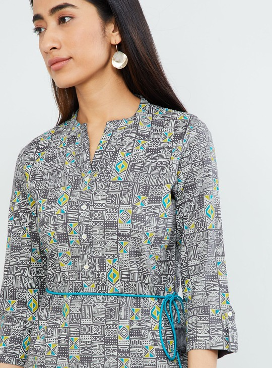 MAX Printed Tunic with Tie-Ups