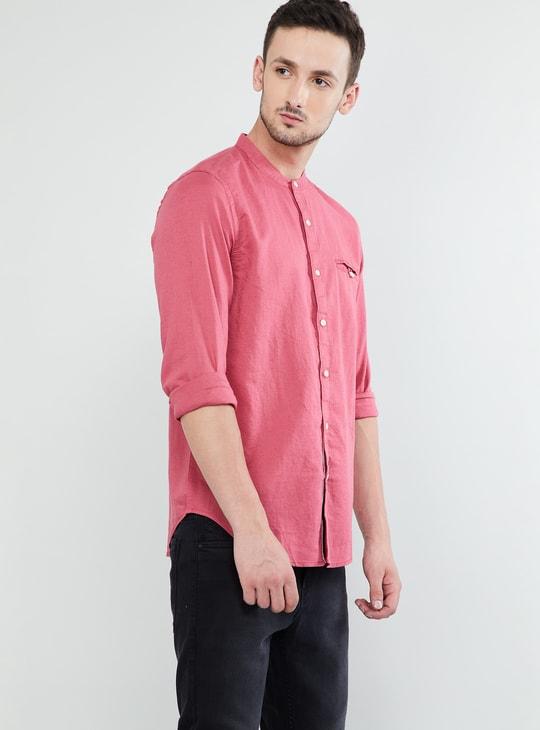MAX Solid Full Sleeves Slim Fit Shirt