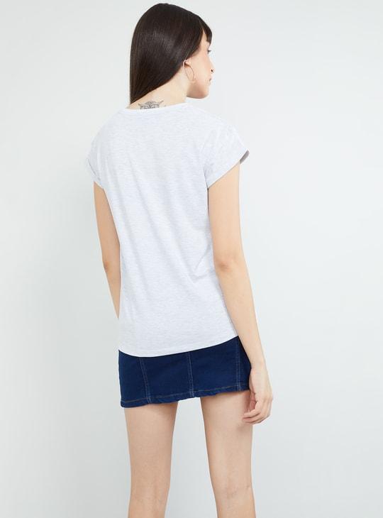 MAX Disney Print Round Neck T-shirt