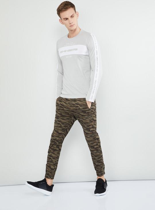 MAX Typographic Print Full Sleeves Slim Fit T-shirt