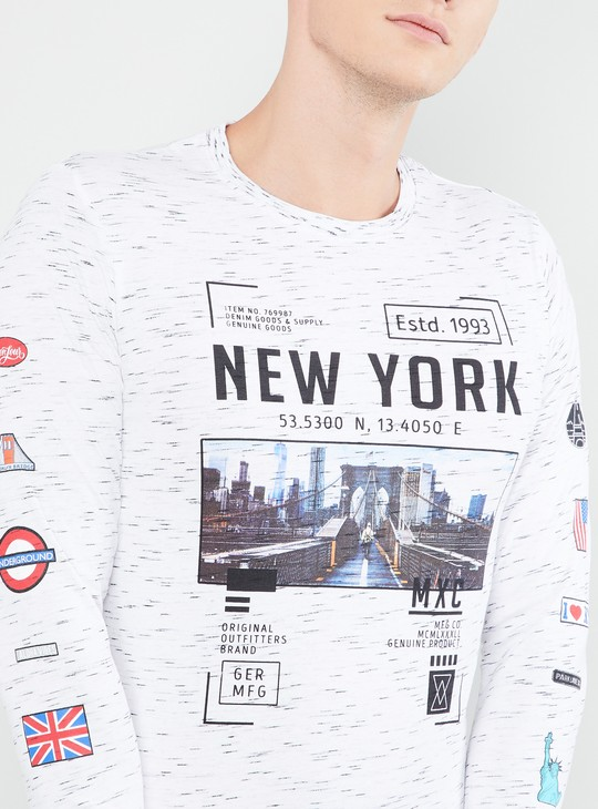 MAX Graphic Print Full Sleeves T-shirt