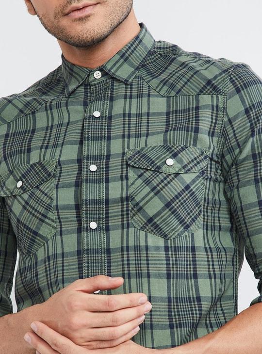MAX Checks Full Sleeves Slim Fit Shirt