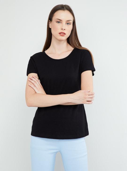 MAX Criss-Cross Back Solid T-shirt