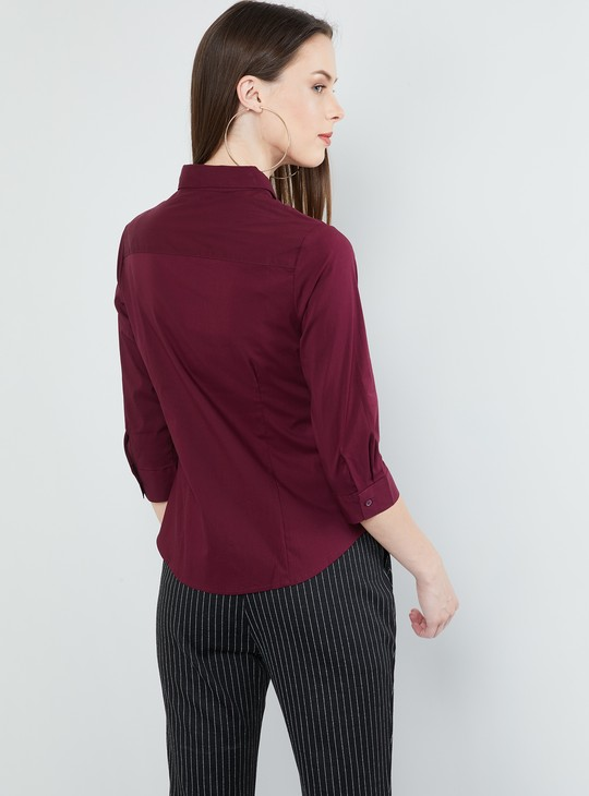 MAX Solid Casual Shirt