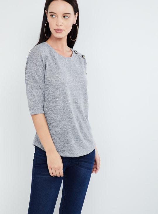 MAX Heathered Drop-Shoulder T-shirt