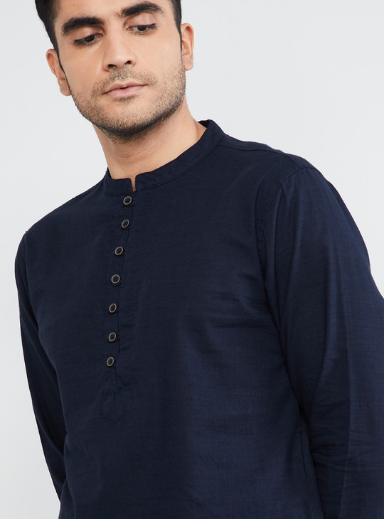 MAX Solid Full Sleeves Short Kurta