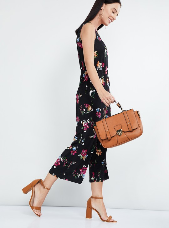 MAX Floral Print Sleeveless Jumpsuit