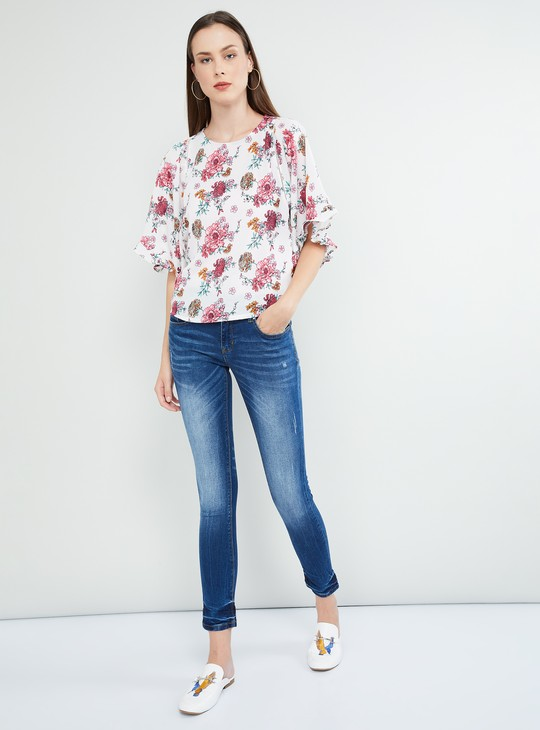 MAX Dolma Sleeves Floral Print Top