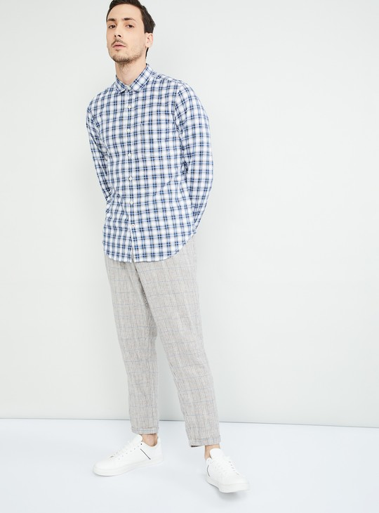 MAX Checked Full Sleeves Slim Fit Shirt