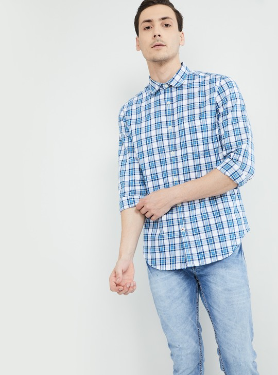 MAX Checked Slim Fit Full Sleeves Shirt