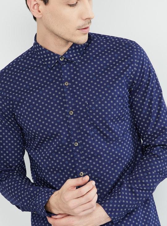 MAX Printed Regular Fit Full Sleeves Shirt