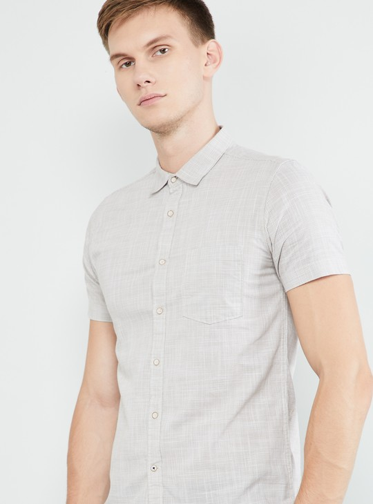 MAX Textured Short Sleeves Regular Fit Shirt