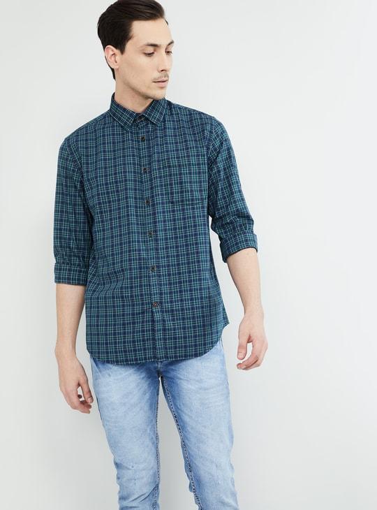 MAX Checked Regular Fit Full Sleeves Shirt