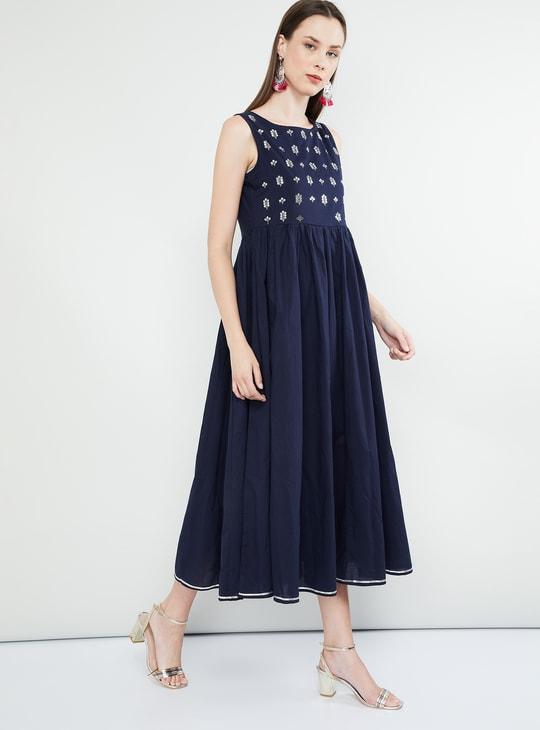 MAX Sequinned Sleeveless Midi Dress